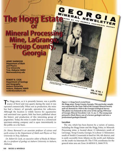 Hall's farm amethyst & stone temple mine in South Carolina